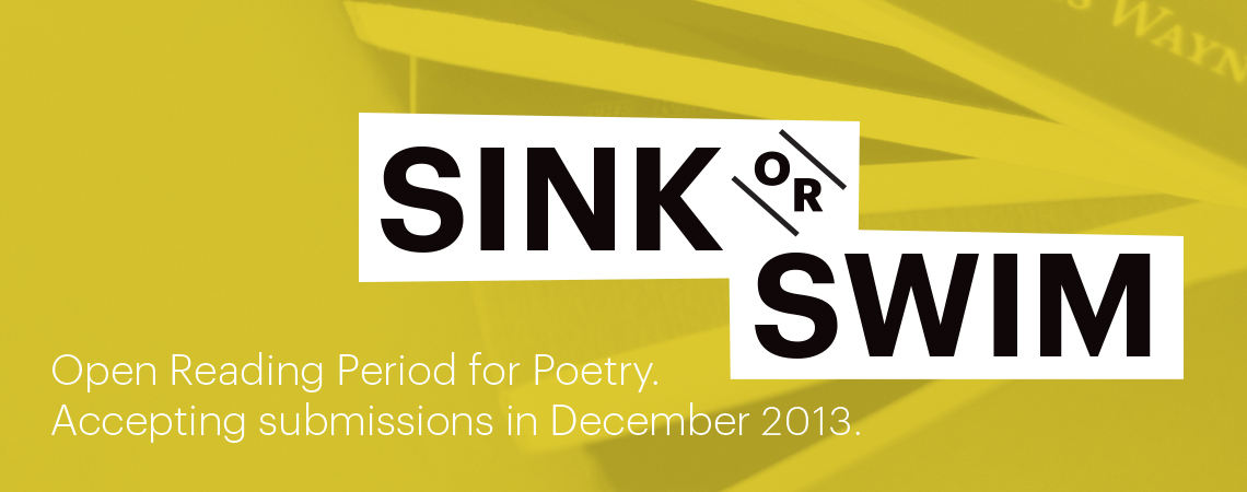 Announcing the Sink or Swim Open Reading Period for Poetry